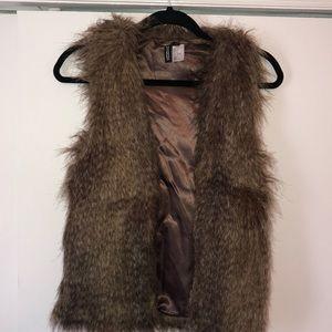 H&M Brown Fur Vest